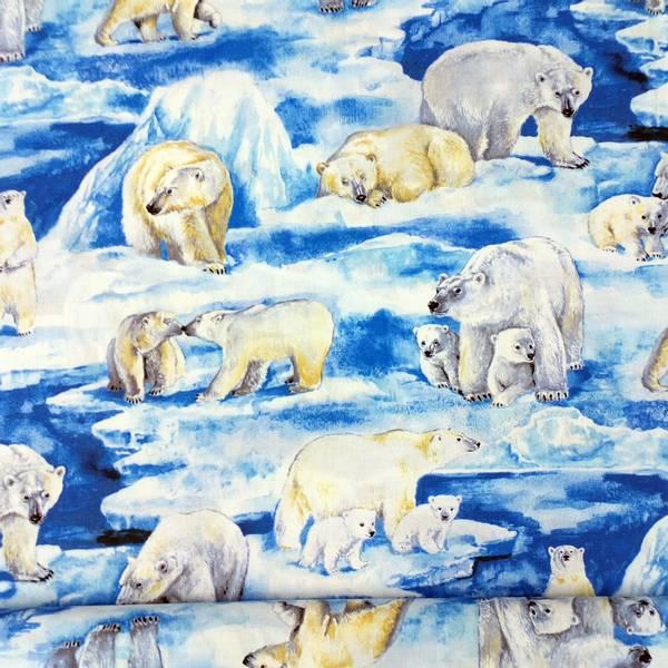 Bilde av Isbjørn - Blå og hvit, 7-13 cm