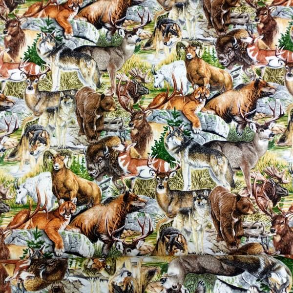 Bilde av Hjort, ulv o.l. - Flerfarget skog, 4-11cm bred