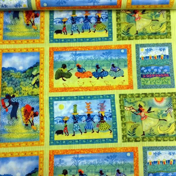 Bilde av Afrika - Mennesker - på limegrønn striper, 13,5-19 cm rammer