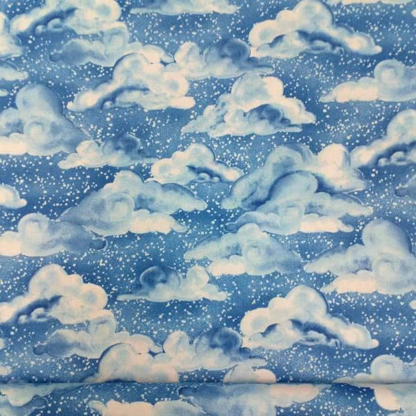 Bilde av Skyer - Lys blå på mørk blå, 8-14cm