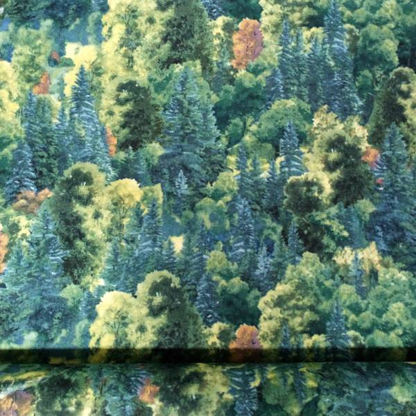 Bilde av Skog - turkis/grønn/brun, 2-10cm høye trær