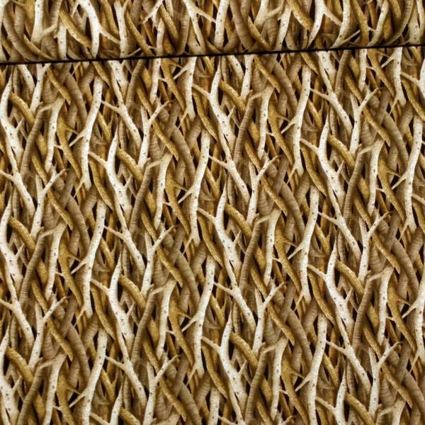 Bilde av Trær - lys/mørk brunt flettet mønster, 3-10mm kvister