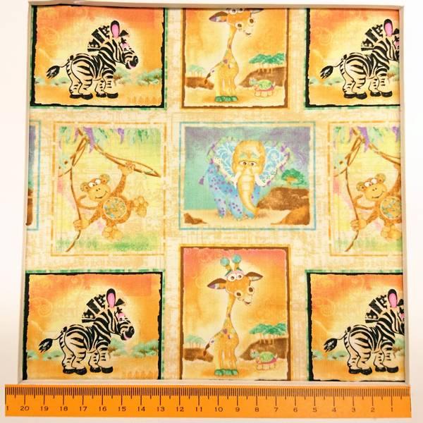 Bilde av Zebra-baby, 6 cm firkanter med sebra, ape, elefant, sjirajj