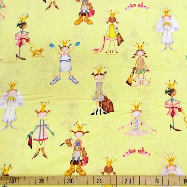 Bilde av When I grow up - 8 cm prinsesser på lys gul
