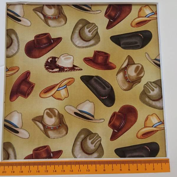 Bilde av Cowboy hatter, 6 cm på lys bakgrunn