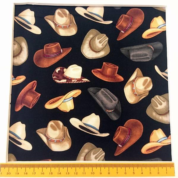 Bilde av Cowboy hatter, 6 cm på sort