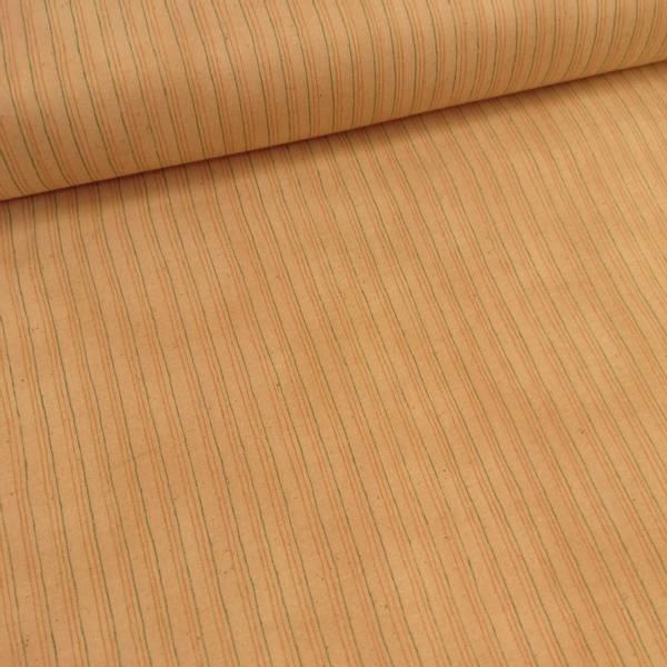 Bilde av Striper - aqua og beige streker på 4 mm beige