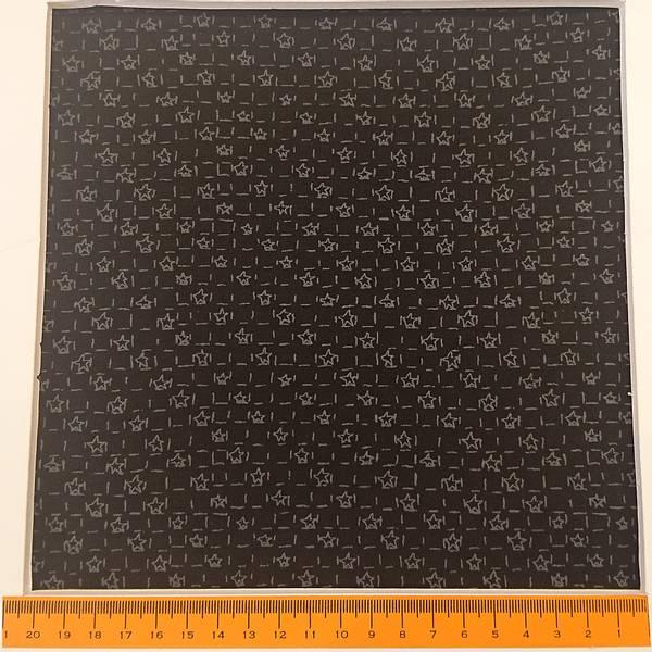 Bilde av Grå 5 mm stjerner på sort