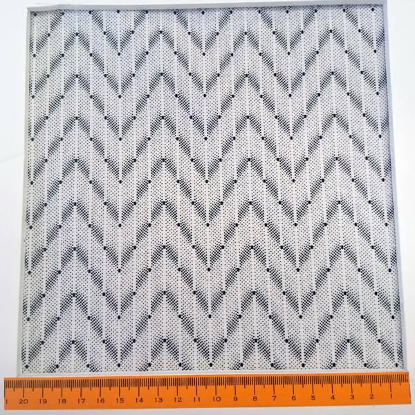 Bilde av Sort-hvit chevron, ca 5 cm bred