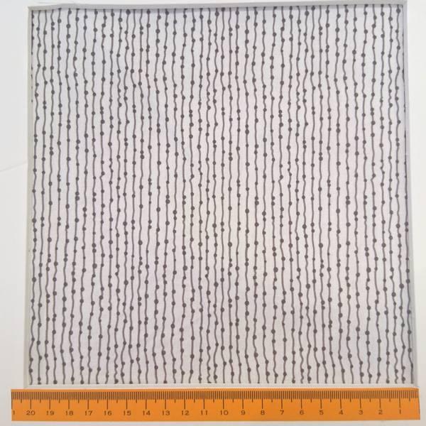 Bilde av Loralie Design - Pin stripe - 2 mm grå prikker & streker på hvit