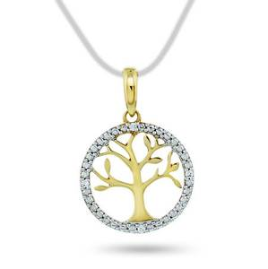 Bilde av Anheng i gull med diamant 0,016 ct WP 55884