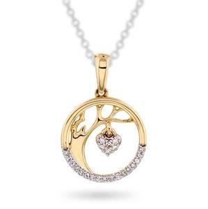Bilde av Anheng i gull med diamanter 0,05 ct WP 56445