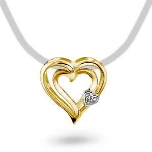 Bilde av Anheng i gull med diamant 0,005 ct WP 53376