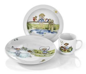 Bilde av Eik Barn - Hjertevenn pike 3 deler porselen