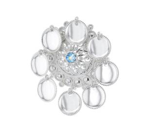 Bilde av Sølje med lauv og krystall. 5001SS00-1