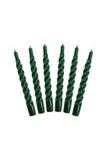 Bilde av Candles with a Twist - Taper Candle 21 cm GREEN