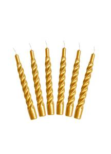 Bilde av Candles with a Twist - Taper Candle 21 cm GOLD