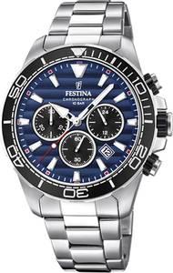 Bilde av F20361-3 Festina 100m,stål, chrono ,mørk blå