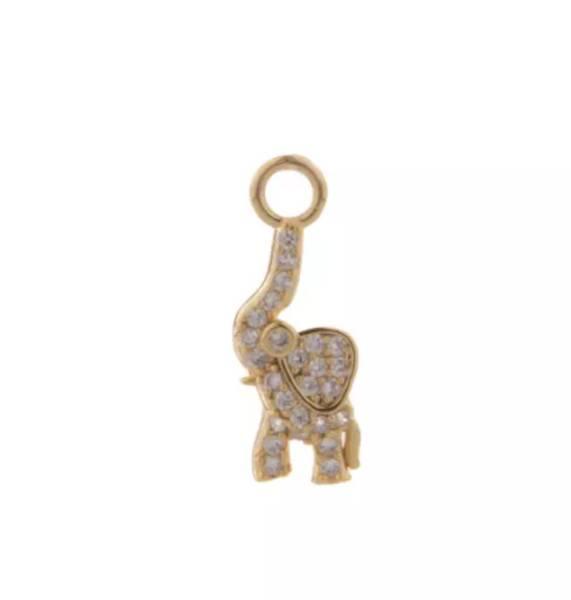 Pendant ear elephant Clear