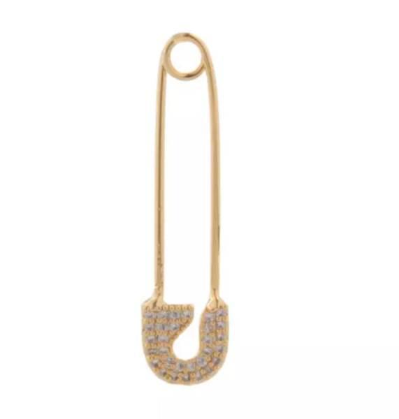 Pendant ear pin Clear