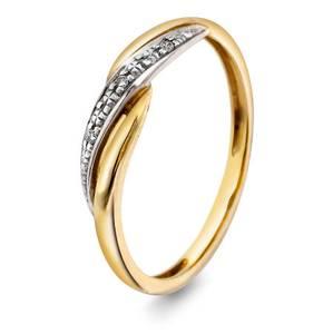 Bilde av Ring i gull med diamant 0,02 ct WP 53412