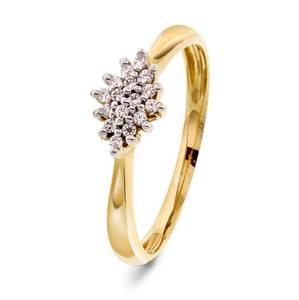 Bilde av Ring i gull med diamant 0,10 ct WP 56363