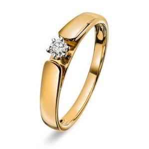 Bilde av Ring i gull med diamant 0,10 ct WP 56985