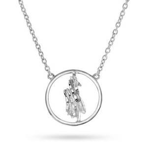 Bilde av 49817 Smykke i sølv nordlys i sirkel