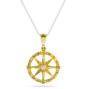 Bilde av Anheng i gull med zirkonia 59015