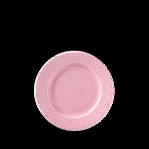 Bilde av RHOMBE LUNCH PLATE Pink, Ø 21 cm