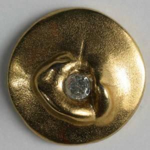 Bilde av Strassknapp, 20mm gull