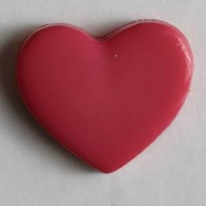 Bilde av Barneknapp, 13mm hjerte pink
