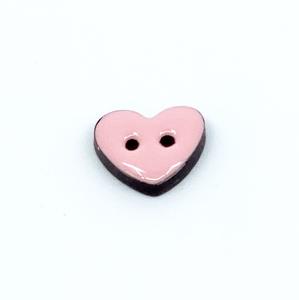 Bilde av Kokosknapp, 15mm hjerte,rosa :