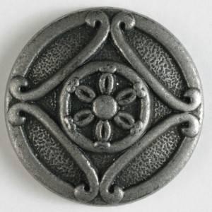 Bilde av Metallknapp, 18mm antikktinn