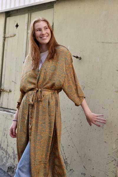 Bilde av Vintage silke kimono - Poppy