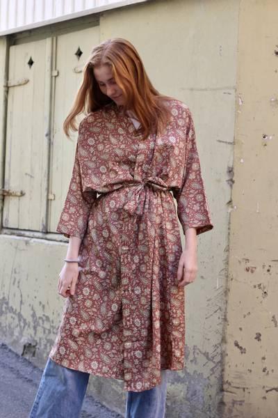 Bilde av Vintage silke kimono - Rose