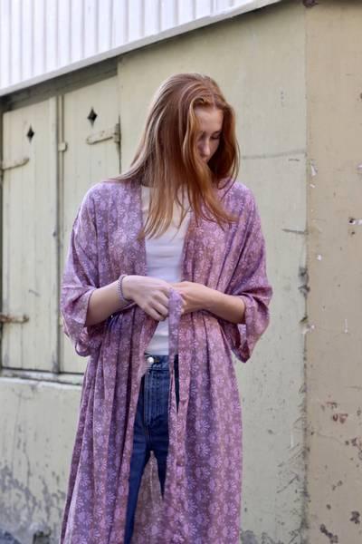 Bilde av Vintage silke kimono - Magda