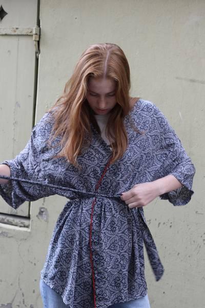 Bilde av Vintage silke kimono - Mona