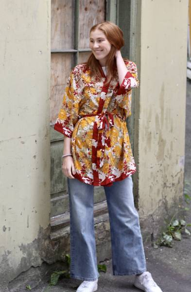 Bilde av Vintage silke kimono - Janne