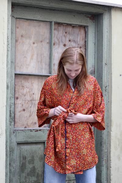 Bilde av Vintage silke kimono - Torunn
