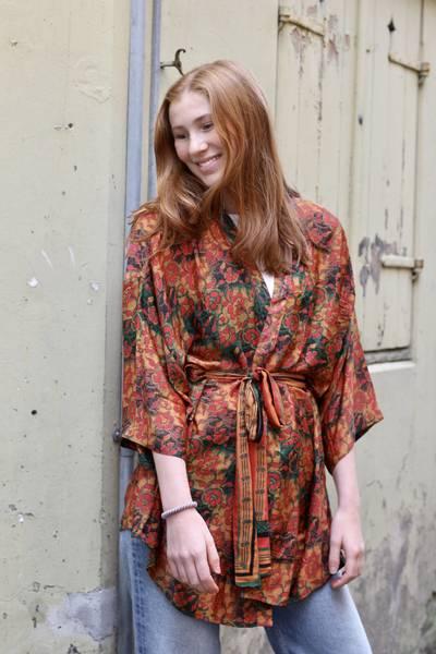 Bilde av Vintage silke kimono - Ella