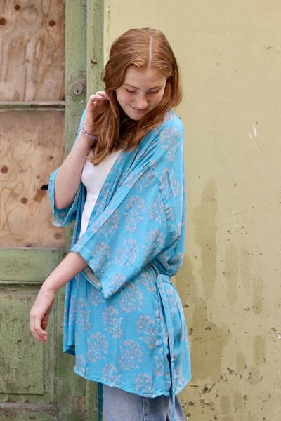 Bilde av Vintage silke kimono - Ebba