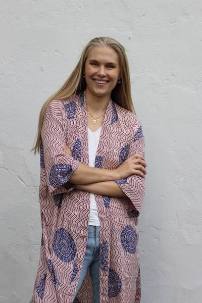 Bilde av Vintage silke kimono - Elise
