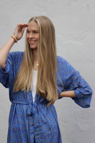Bilde av Vintage silke kimono - Aurora