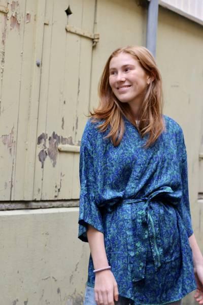 Bilde av Vintage silke kimono - Marina
