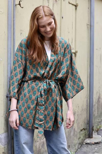 Bilde av Vintage silke kimono - Silke