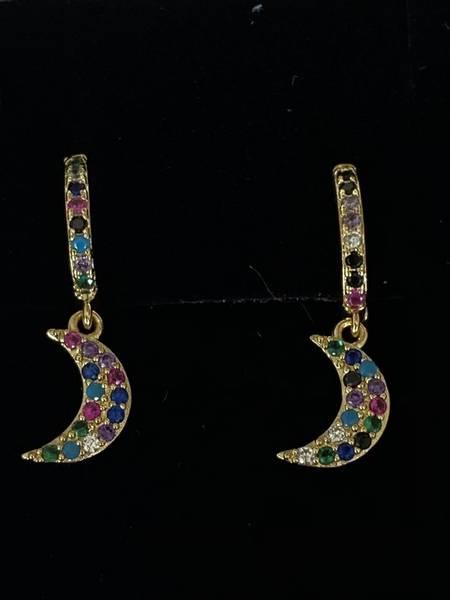 Bilde av Øreringer med fargerike måner