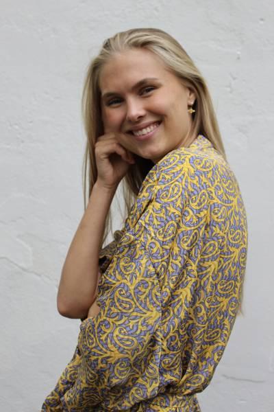 Bilde av Vintage silke kimono - Luna