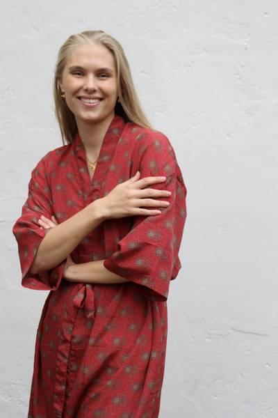 Bilde av Vintage silke kimono - Ditte