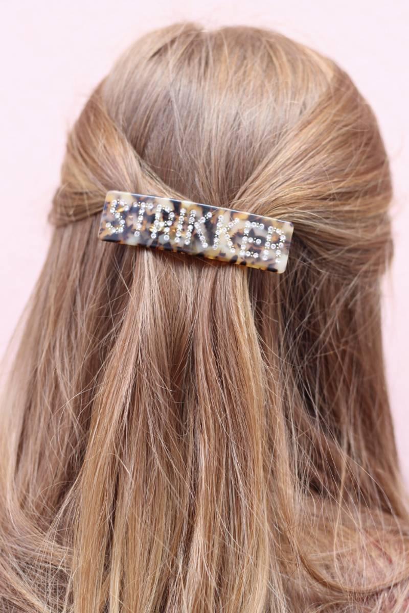 Strikker hårspenne - liten